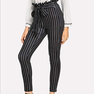Shein dress pants high waist tie small